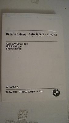 Motorbike Parts Catalogue BMW R 50/5 – R 100 RT