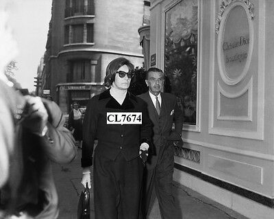 Greta Garbo and Georges Schlee at Orly Airport before Leaving for New York Photo