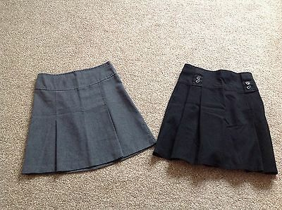 Marks And Spencers Age 7-8 & Age11-12 School Skirt