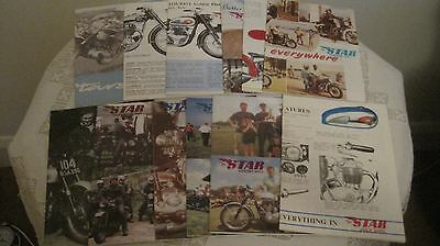 12 Vintage 2001 Editions of The Star Motor Cycle Magazine