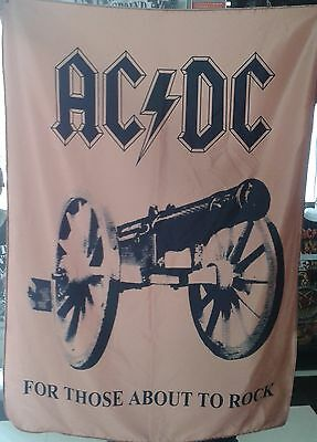 AC/DC For Those About to Rock FLAG CLOTH POSTER WALL TAPESTRY CD Angus Young