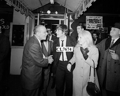 John Lennon and Wife Cynthia Arrive at the Peppermint Lounge in New York Photo