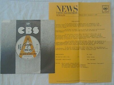 RARE COUNTRY PROMO 45 Tammy Wynette The Ways To Love A Man PRESS RELEASE INSERT
