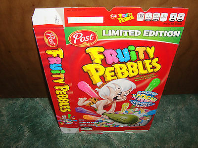 FRUITY PEBBLES ROCKIN' EXTREME cereal box 2013 LIMITED OOP POST RARE BAMM-BAMM