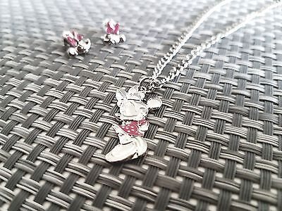 Disney Minnie Mouse Silver Necklace Brand New