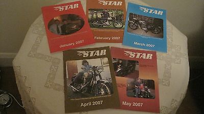 5 Vintage 2007 Editions of The Star Motor Cycle Magazine