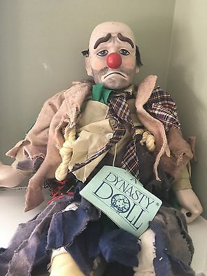 Vintage Clyde The Hobo Clown Bisque Dynasty Doll
