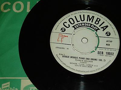 Meade Lux Lewis, Mama's Bounce, Orig Uk 50's Jazz Boogie 45Rpm Ep