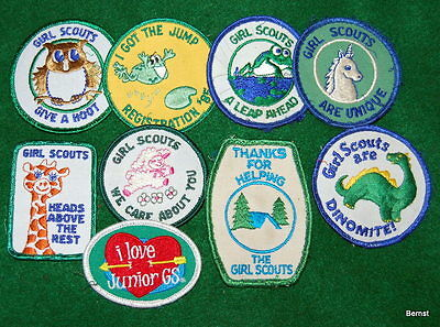 Girl Scout - Lot Of Girl Scout  Patches