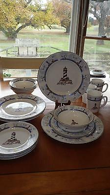 Coastal Lighthouse Dinnerware Set By Totally Today Serice For 4 16
