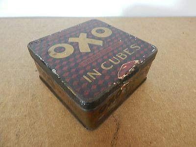 early OXO in cubes 50 tin scarce version with opening nub 10x10cm