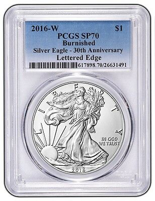 2016-W Burnished American Silver Eagle - PCGS SP70