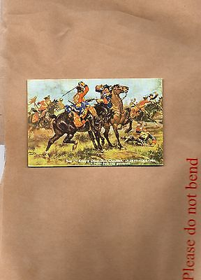 Tucks Oilette Our fighting Regiments the 1st dragoon guards 1745 Unposted   art