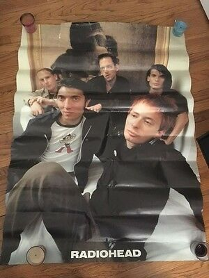 Radiohead 90s group shot wall size poster 40x60 vintage OK Computer The Bends