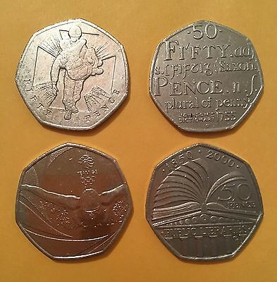 50p Coins A Selection Of 4 X Different RARE 50p Coins