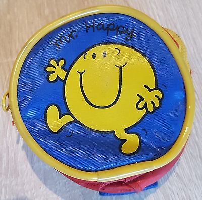 Clearance Sale Mr Men Vintage Collectibles - Mister Happy Coin holder Purse 1999