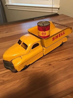 SHELL BUDDY L DELIVERY TRUCK ORIGINAL VERY NICE W Oil Can Bank