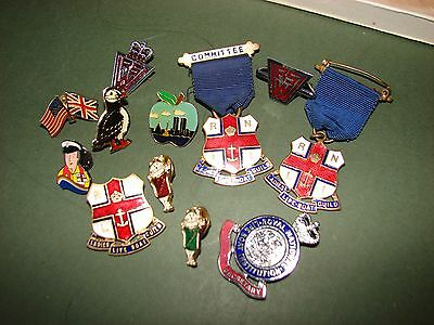 Collection of Vintage Pin Badges Charities