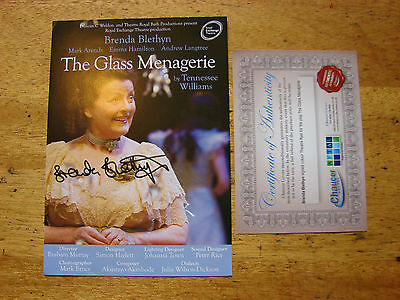 Brenda Blethyn SIGNED threatre flyer Autograph 8 x 6 with COA