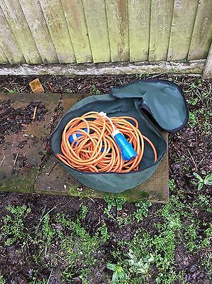 Caravan Hook Up Cable With Storage Bag and Adapter