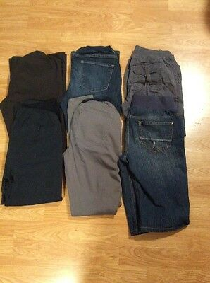 7 Piece Maternity Lot Sz Small Motherhood Maternity, Duo Maternity, Indigo Blue,