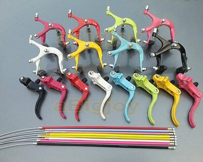"""24""""/26"""" 700C Fixed Gear Bike Road Bicycle Front/Rear Brake Lever Shifter Set"""