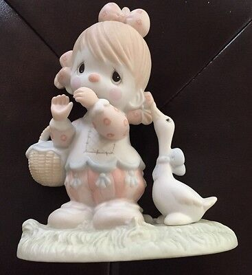 1985 Precious Moments Waddle I Do Without You Clown Series Porcelain Figurine