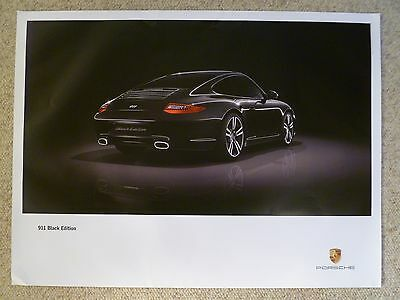 2011 Porsche 911 Coupe Black Edition Showroom Advertising Sales Poster RARE L@@K
