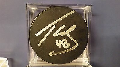 TYLER KENNEDY Pittsburgh Penguins AUTOGRAPHED Auto Signed Hockey Puck w/ COA