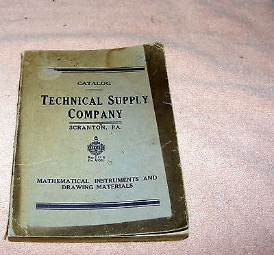trade catalog:  Technical Supply Co.  1912 Drafting and Engineering Surveying