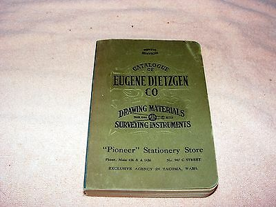 trade catalog:  Dietzgen Drafting and Surveying Supplies 1910