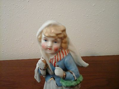 Antique German Conta Boehme  Baby Girl Doll With Basket Figurine
