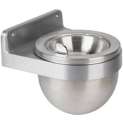 Continental 650 Walled Mounted Ash Receptacle With Hinged Top, Steel