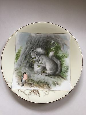 Antique Porcelain Plate Signed EG Darby 89/Landseer Piper and Pair Nutcrackers