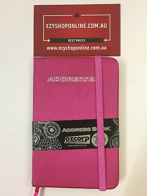 Ozcorp Mini Address Book AB53 8.5 x 12.5cm - Hot Pink