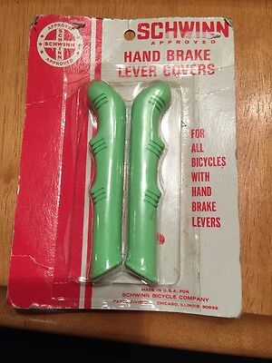 Vintage Schwinn Hand Brake Lever Covers Lime Green New In Package