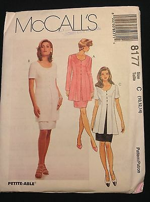 Pattern McCall's 8177, misses mock dress, top, tunic 10-14