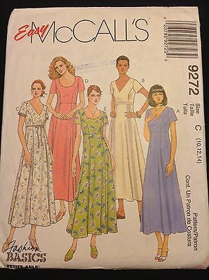 Pattern McCall's 9272, misses' dress spring/summer, size 10-14 uncut
