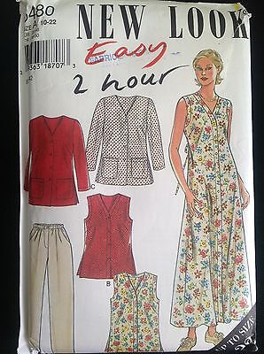Pattern New Look 6480 misses' dress, top and pants, boho 10-22