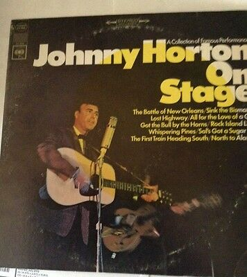 "Johnny Horton  On Stage, Columbia CL2566  North to Alaska 12"" 33RPM  LP  Country"