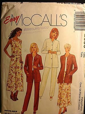 Pattern McCall's 2050, misses' jacket, top, skirt, pants, size 18-22