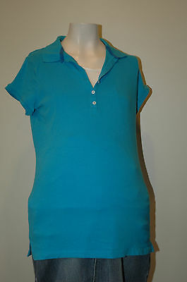 Motherhood Maternity Blue Short Sleeved Nursing Top Size S Small