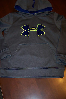 Boy's Youth Small Under Armour Loose Fit Hoodie Sweatshirt size YSM S Gray Blue
