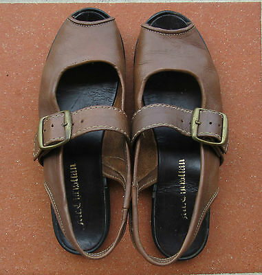 Original Mr Christian Leather Sandals Size 8