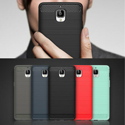 Ultra Slim Brushed Shockproof Rugged Bumper Case TPU Cover For OnePlus 3 / 3T