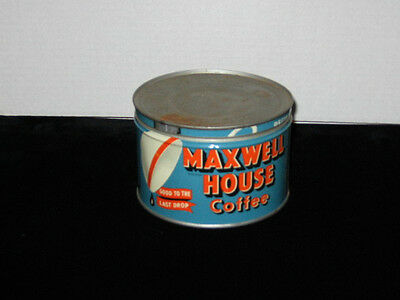 Vintage 1lb  key  wind Maxwell House Coffee Tin