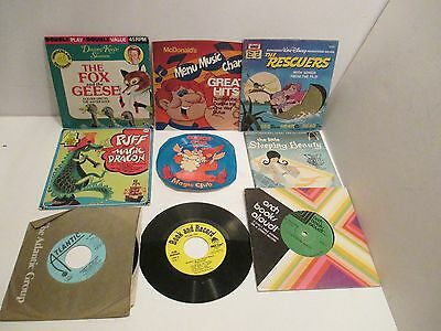 Disney And Other Vintage Children Recoreds And Books