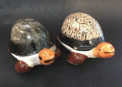 Turtle  Tortoise Japanese Made Salt & Pepper Shaker Set - 1950/60s Japan