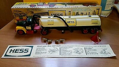 Hess Tank Trailer Truck With Original Funnel! 1964 Marx Toys Fuel Company Truck