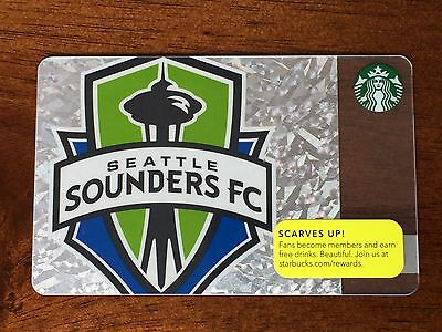 Starbucks SEATTLE SOUNDERS 2013 FC Soccer Gift Card Limited Edition - New Mint